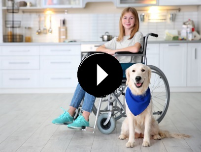 MyLiferaft - girl with dog