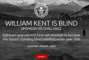 William Kent Blind Teenager Guinness World record Challenge