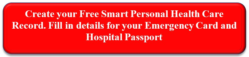 link to create Myliferaft account and set up Emergency Card and Hospital Passport